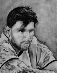 Leo Messi Portrait by AKFid