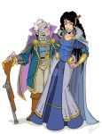 Old Man Percy and Vex Critical Role Fan Art by wonderfully-twisted