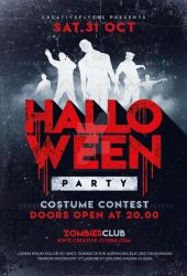 Halloween flyer Psd by RomeCreation