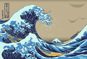 Great Wave off Kanagawa by ShinySeabass