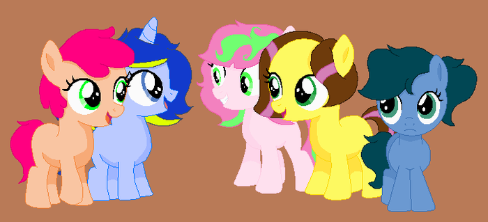 Blue Rose and her Squad by SummerSketch-MLP