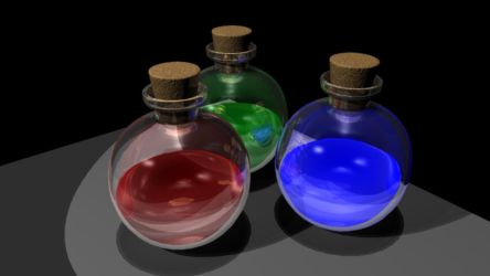 Potion Bottles by MythicalGrim