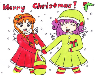 Merry Christmas from Chelsea and Felicity! by Animecolourful