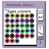 eye colour object stock by brushmad