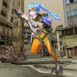MMD [Vocaloid x Overwatch] TDA Miku - Tracer by Ooma-p