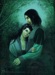 Meneliel and Balariond by ellaine