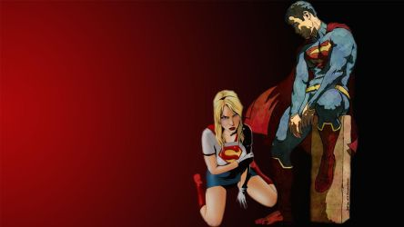 Superman and Supergirl Wallpaper   Defeated by Curtdawg53