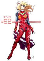 Eva 02 - Pencil/Ink\Multichromatic by mkmatsumoto