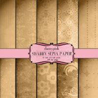 digital paper, SHABBY SEPIA damask scrapbook by miabumbag