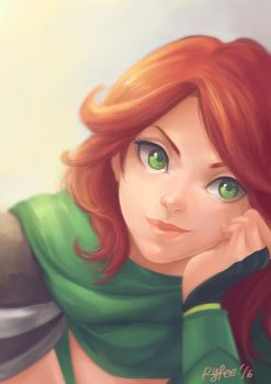 Windranger - Dota 2 by feliadraws
