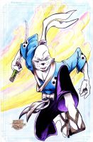 Usagi Yojimbo - Stone - Egli - Watercolor by SurfTiki