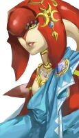 The Legend of Zelda Breathe of the Wild - Mipha by blazpu