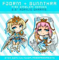 Fjorm and Gunnthra Charms by ParaParano