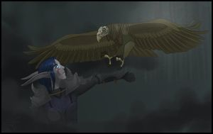 Mayima and Eagle by IcestormTundra