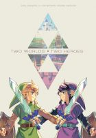 Two Worlds Two Heroes by joodlez