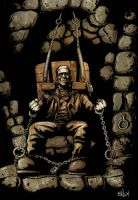 FRANKENSTEIN CHAINED COLOR by mister-bones