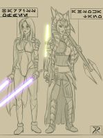 Post Clone Wars Ahsoka and Barriss by Montano-Fausto