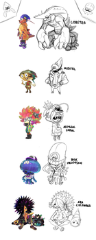 Octo shopkeepers concept art (UPDATED) by efrejok