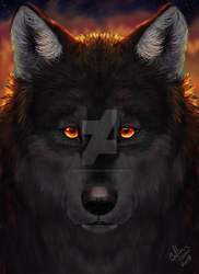 wolf that i painted by twilightwhitewolf
