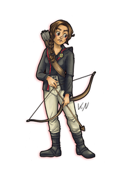 30 days of what inspires me - Day 3 Katniss by Kaos-Felida