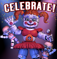 Circus Baby Celebrate Poster! by GamesProduction
