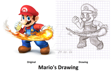 Mario's Drawing from Super Smash Bros 3DS And WiiU