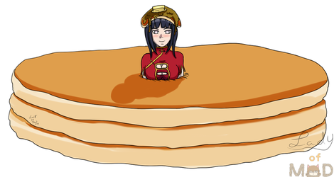 Hinata in Pancakes (Commission) by Lady-of-Mud