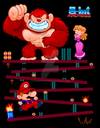 8-bit Madness Donkey Kong by WarBrown