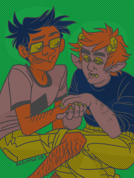 a hundred years john and karkat by scrumss