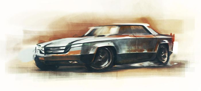 Gangster car concept by anti-vedel