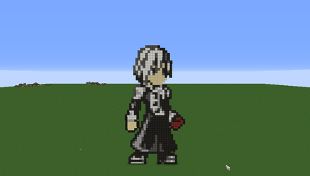 Allen Walker (D. Gray Man) Pixel Art by Nonamewayward