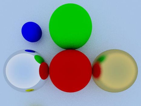 Multiray Colors And Reflections by rkibria