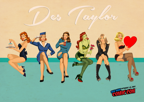 Des Taylor Pin Ups by DESPOP