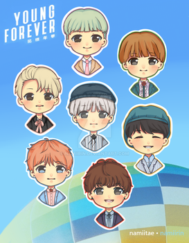 BTS stickers [SET 2] by namiirin