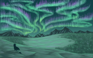 Northern Lights by OmbraniWolf
