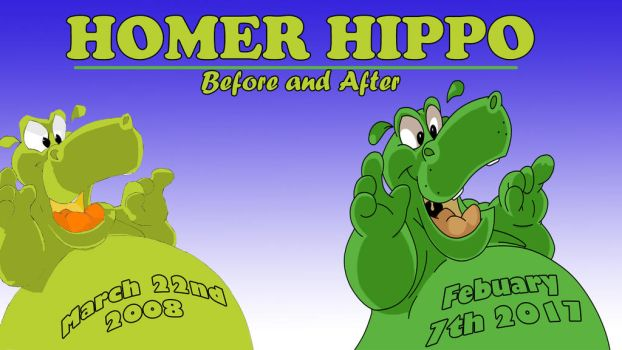Homer Hippo before and after by b1k by b1k