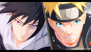 Naruto 694 - Naruto vs Sasuke by X7Rust