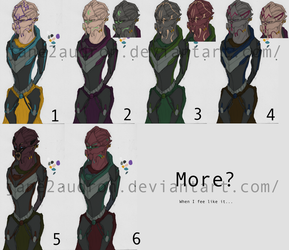 Turian Color Concepts by Jane2Audron