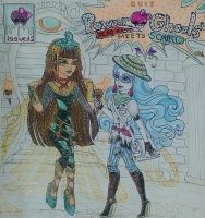 Cleo de Nile meets Ghoulia Yelps by GuiZSTAR