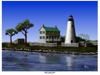 WATTS ISLAND LIGHT by Belote-Art