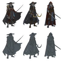 Character Design Demo - November 2016 - concepts by RogierB
