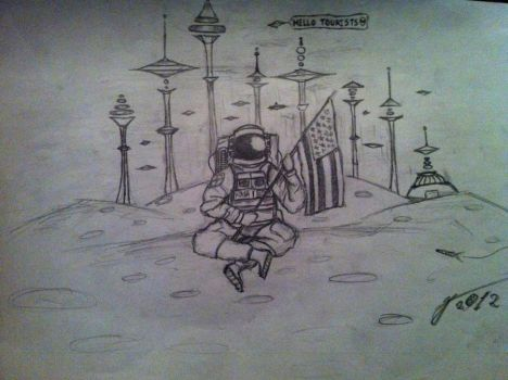 Just hanging out on the moon =) by george96