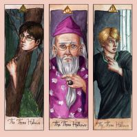The three Hallows_Bookmarks by avisnocturna
