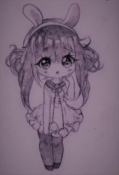 Bunny chibi by SophieSeraph