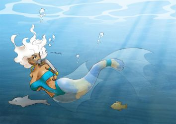 Leviathans mermaid impression by uberis