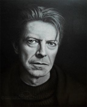 DAVID BOWIE - drawing (pastel) by b-Dedi