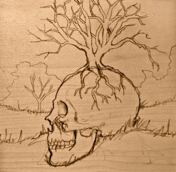 The Dying Tree WIP by kitten9000