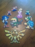 2015 X-mas Perler Commish by Mind-Like-A-Puzzle