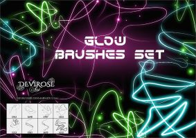 Glow Lines Brush Set by Devirose81