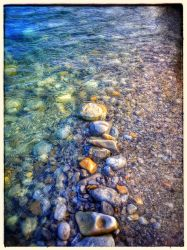 Water Beats Rock I - Kananaskis by lunacatd